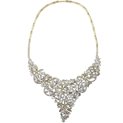 PROM NIGHTS NECKLACE SET- Gold (NK198)