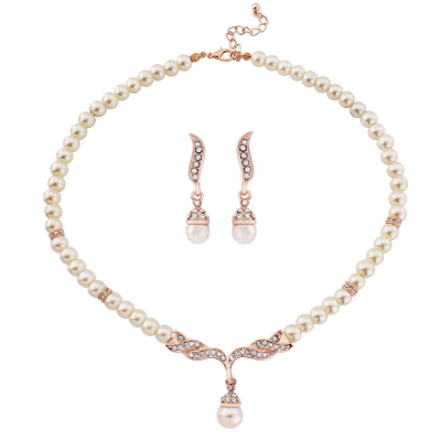 Rose Gold Pearl Set - NK230