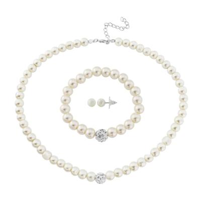 3 Piece Pearl Necklace Set - NK2360