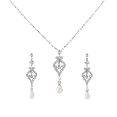 Cubic Zirconia Collection - Enchanting Necklace Set - CZNK23