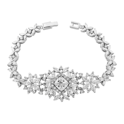 Cubic Zirconia Collection - Bejewelled Vintage style Bracelet - CZBRA9