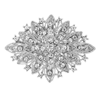 Crystal Shimmer Brooch - 34