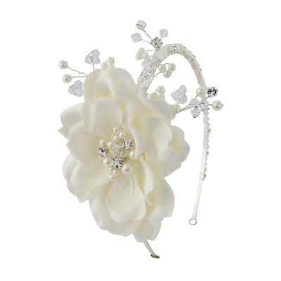 Elsie Extravagance Flower Headband HDB36 - IVORY - SASSB