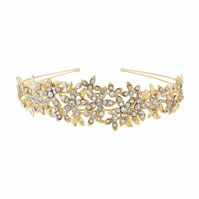 CRYSTAL COUTURE HEADBAND - GOLD (HB1641)