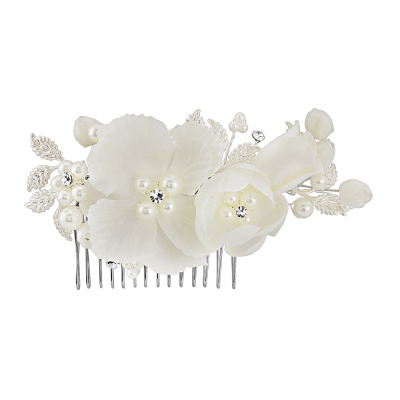 Luisa - Chic Petals Hair Comb - IVORY - SASSB