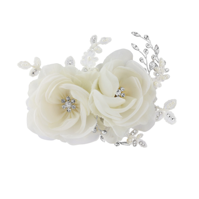 BLOSSOM HEADPIECE - Luxe Crystal Hair Comb - SASSB - IVORY