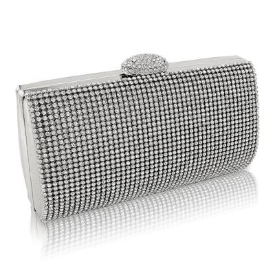 Daisy Crystal Evening Bag - Silver