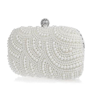 Classic Pearl Clutch Bag - Light Ivory