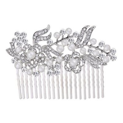 Glam Gatsby Style Comb - (SILVER) HC151