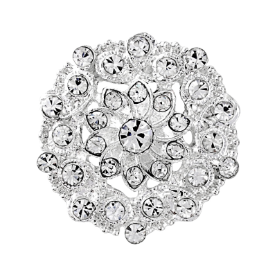 Crystal Button Brooch - Brooch 147