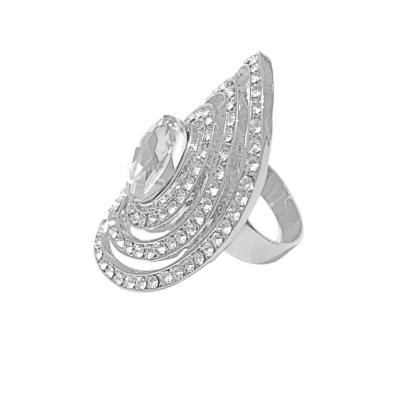 Crystal Cocktail Ring - Adjustable - R5