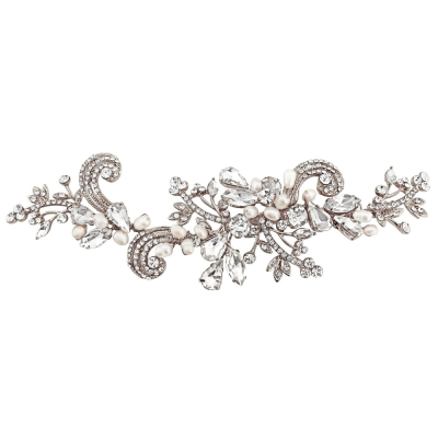 SASSB COLLECTION - ELISE EXQUISITE HEADPIECE - SILVER