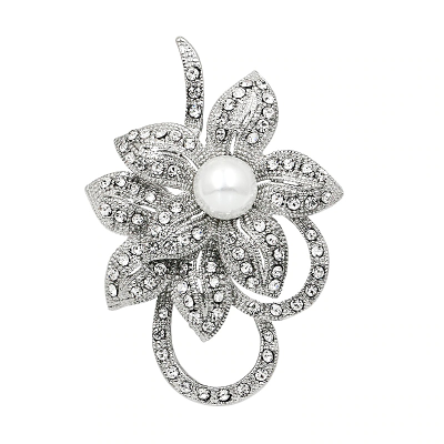 Vintage Crystal Bridal Brooch - 29