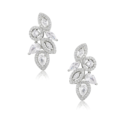 CUBIC ZIRCONIA COLLECTION - ART DECO  EARRINGS - CZER538