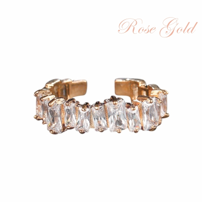 ATHENA COLLECTION - DIVINE CRYSTAL RING - ADJUSTABLE - ROSE GOLD R6