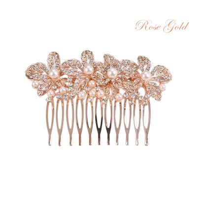ATHENA COLLECTION - EXQUISITELY PEARL COMB - HC174 ROSE GOLD