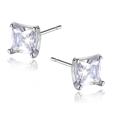 CUBIC ZIRCONIA COLLECTION - DAINTY GEM EARRINGS - CZER554