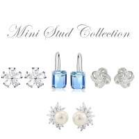 CUBIC ZIRCONIA COLLECTION - MINI STUD COLLECTION