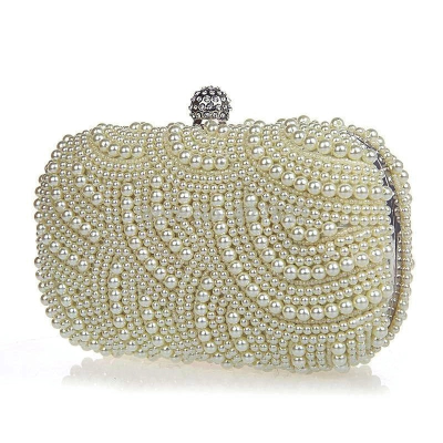 Classic Pearl Clutch Bag -CREAM