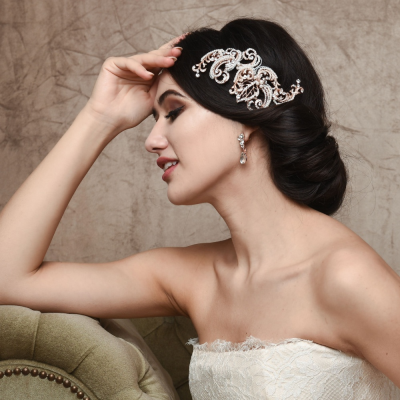 SASSB COLLECTION - VINTAGE EXTRAVAGANCE HEADPIECE -HC33 - ROSE GOLD
