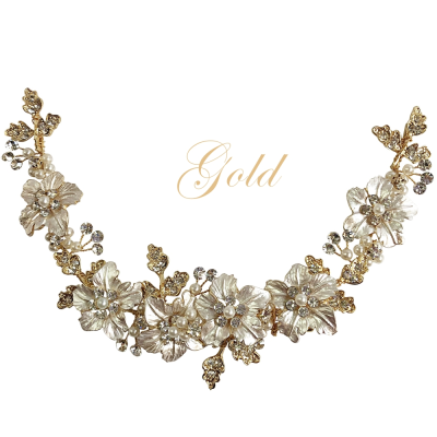 ATHENA COLLECTION - FLORAL ROMANCE EXQUISITE HAIR VINE - (HP153) GOLD