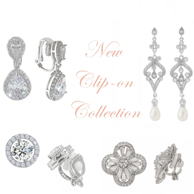 CUBIC ZIRCONIA COLLECTION - CRYSTAL ELEGANCE CLIP ON COLLECTION - 2