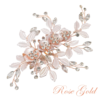 ATHENA COLLECTION - FLORAL ROMANCE HEADPIECE- HC222 ROSE GOLD