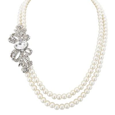 ELITE COLLECTION -VINTAGE GLAM PEARL NECKLACE - (NK146)