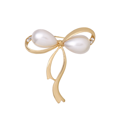 ATHENA COLLECTION - GOLD BOW BROOCH - BROOCH 52