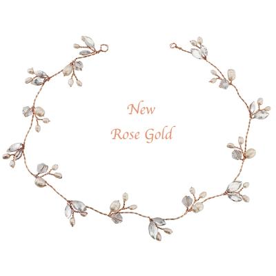 Chic Freshwater Pearl Hairvine - ROSE GOLD SASSB