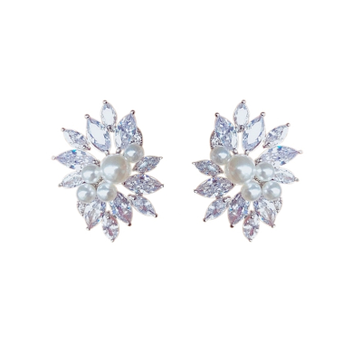 CUBIC ZIRCONIA COLLECTION - ETERNALLY PEARL EARRINGS - CZER477