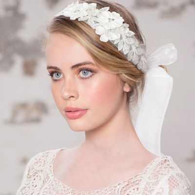 Exquisite Embellished Ribbon Headband - LH3