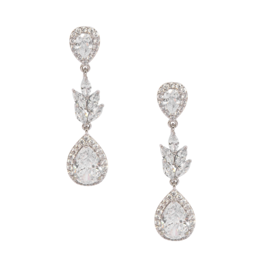 CUBIC ZIRCONIA COLLECTION - VINTAGE CHARM EARRINGS - CZER591