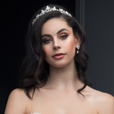 SASSB COLLECTION - ARABELLA COUTURE TIARA - SILVER