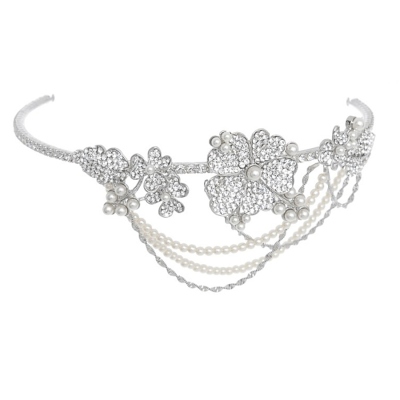 ELITE COLLECTION - Bejewelled Statement Piece Brow Band HP176