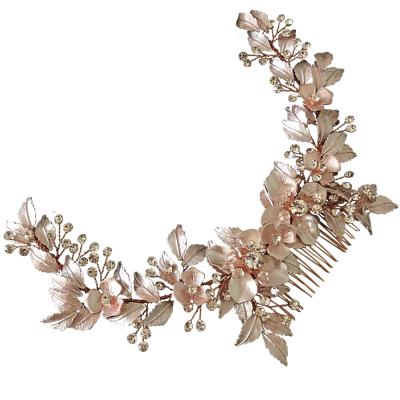 ATHENA COLLECTION - FLORAL EXTRAVAGANCE HEADPIECE -HC184 PINK BLUSH
