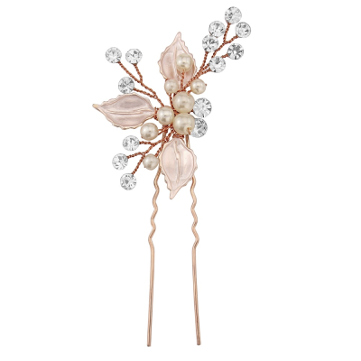 ATHENA COLLECTION - BEJEWELLED ROMANCE HAIR PIN - PIN31 (BLUSH PINK)