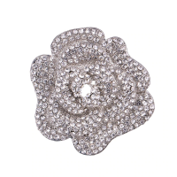 ATHENA COLLECTION - EXQUISTE ROSE BROOCH - BROOCH 158) silver