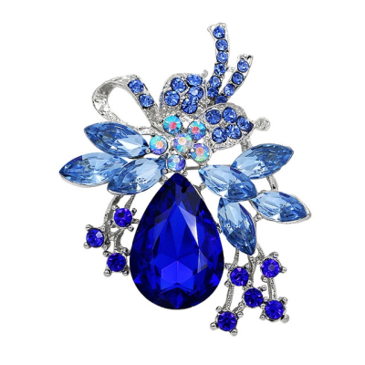 ATHENA COLLECTION - STARLET BROOCH - BLUE (BROOCH164)