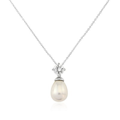 CUBIC ZIRCONIA COLLECTION - TIMELESS ELEGANCE NECKLACE - CZNK74