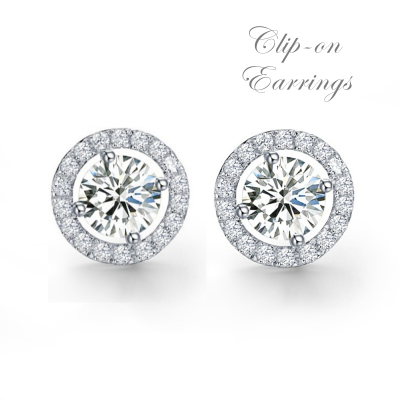 CUBIC ZIRCONIA COLLECTION - EXQUISITE CRYSTAL STUD EARRINGS - CZER435