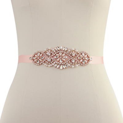 ATHENA COLLECTION - TIMELESS ELEGANCE BRIDAL BELT - (25) PINK ROSE