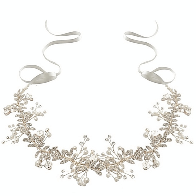ATHENA COLLECTION - CRYSTAL STARLET HAIRVINE- HP142 SILVER