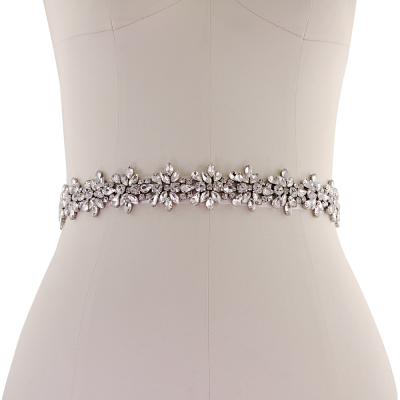 ATHENA COLLECTION - BEJEWELLED BRIDAL BELT - BELT 15 - IVORY