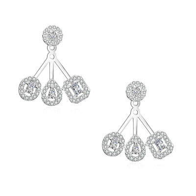 CUBIC ZIRCONIA COLLECTION - HIGH FASHION CRYSTAL EARRINGS - CZER518