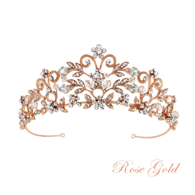 ROCHELLE ENCHANTMENT TIARA - CLEAR - SASSB TIARA 13 ROSE GOLD