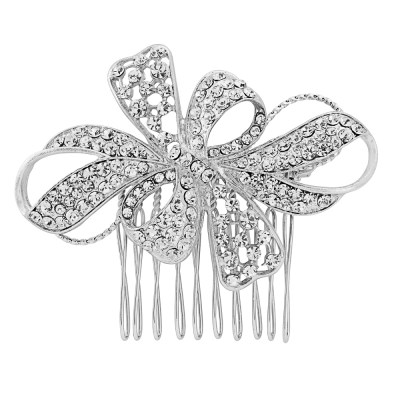Vintage Glam Crystal hair Comb - Clear (HC51)