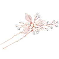 ATHENA COLLECTION - BEJEWELLED ROMANCE HAIR PIN - PIN31 (BLUSH PINK)