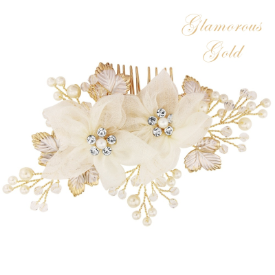 ATHENA COLLECTION - GOLD DIVINE HAIRCOMB - (HC156)