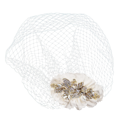 SASSB COLLECTION - VINTAGE LUXE BIRDCAGE VEIL - HP34 - 14K GOLD